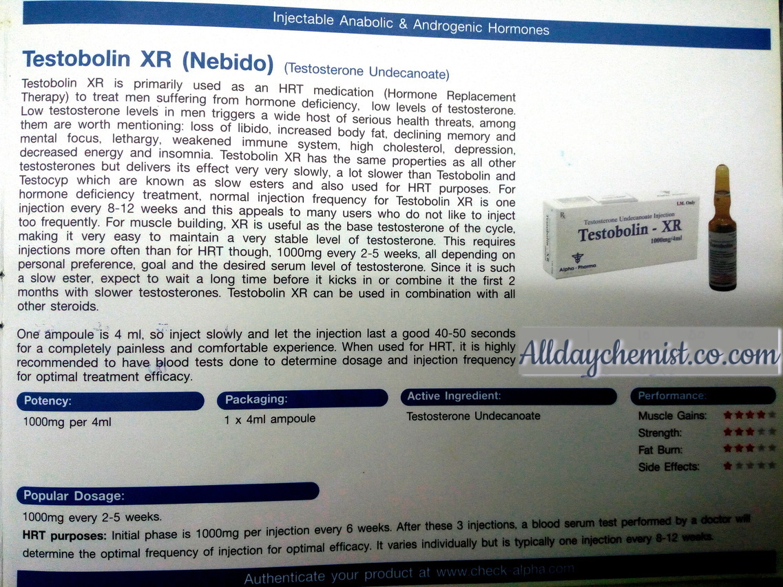 TESTOBOLIN XR ALPHA PHARMA - Alldaychemist co com